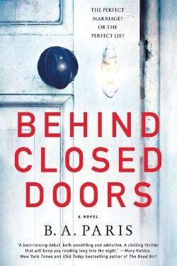 Portada del libro Behind Closed Doors de BA Paris