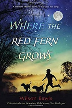 Portada del libro Donde crece el helecho rojo por Wilson Rawls